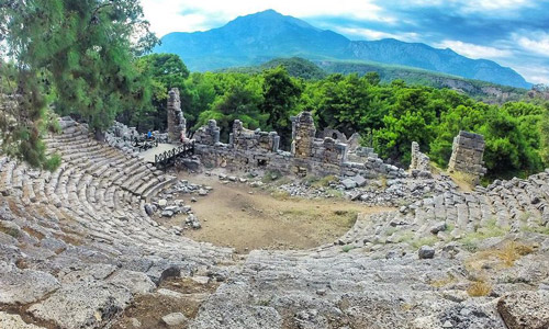 Phaselis Antik Kenti hikayesi Amfi Tiyatro Antalya tarihi yerler