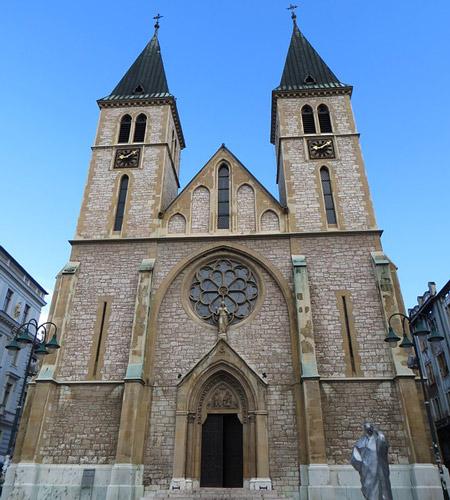 Saraybosna Katedrali Bosna Hersek gezilecek yerler