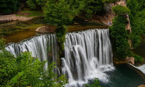 Vizesiz Balkan turu Jajce Pliva Şelalesi