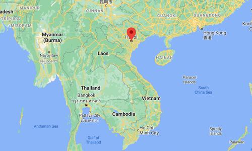 Vietnam başkenti Hanoi nerede nasıl gidilir Çinhindi Yarımadası harita