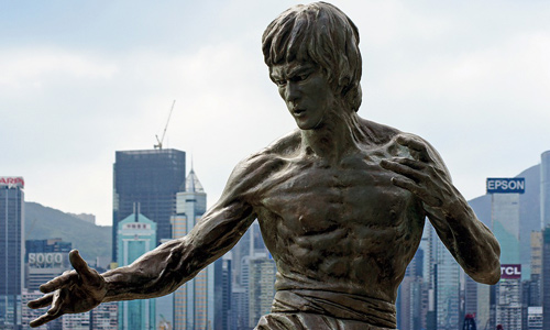 Avenur of Starts Bruce Lee Heykeli